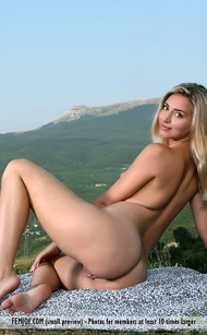 FEMJOY Pure Nudes Milena J. Strolling the Alps with a breathtaking view, but it's her large pussy lips that left me speechless! Photo by Peter Astenov with 16 pics gallery @FEMJOY, selected by Erotikom with Milena J. deliciously large pussy labia tasty as cherry! Only @FEMJOY