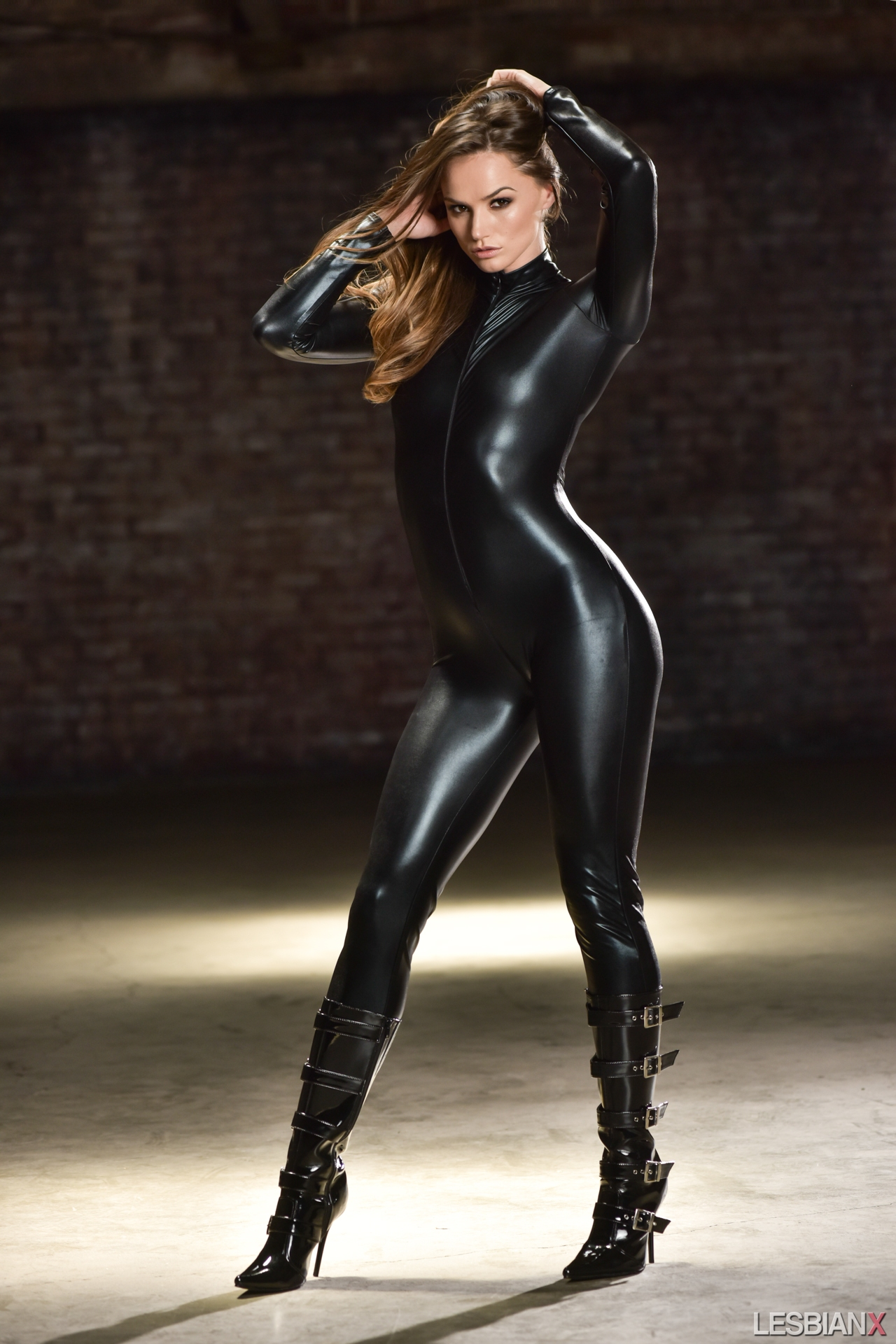 black latex leggings Tori