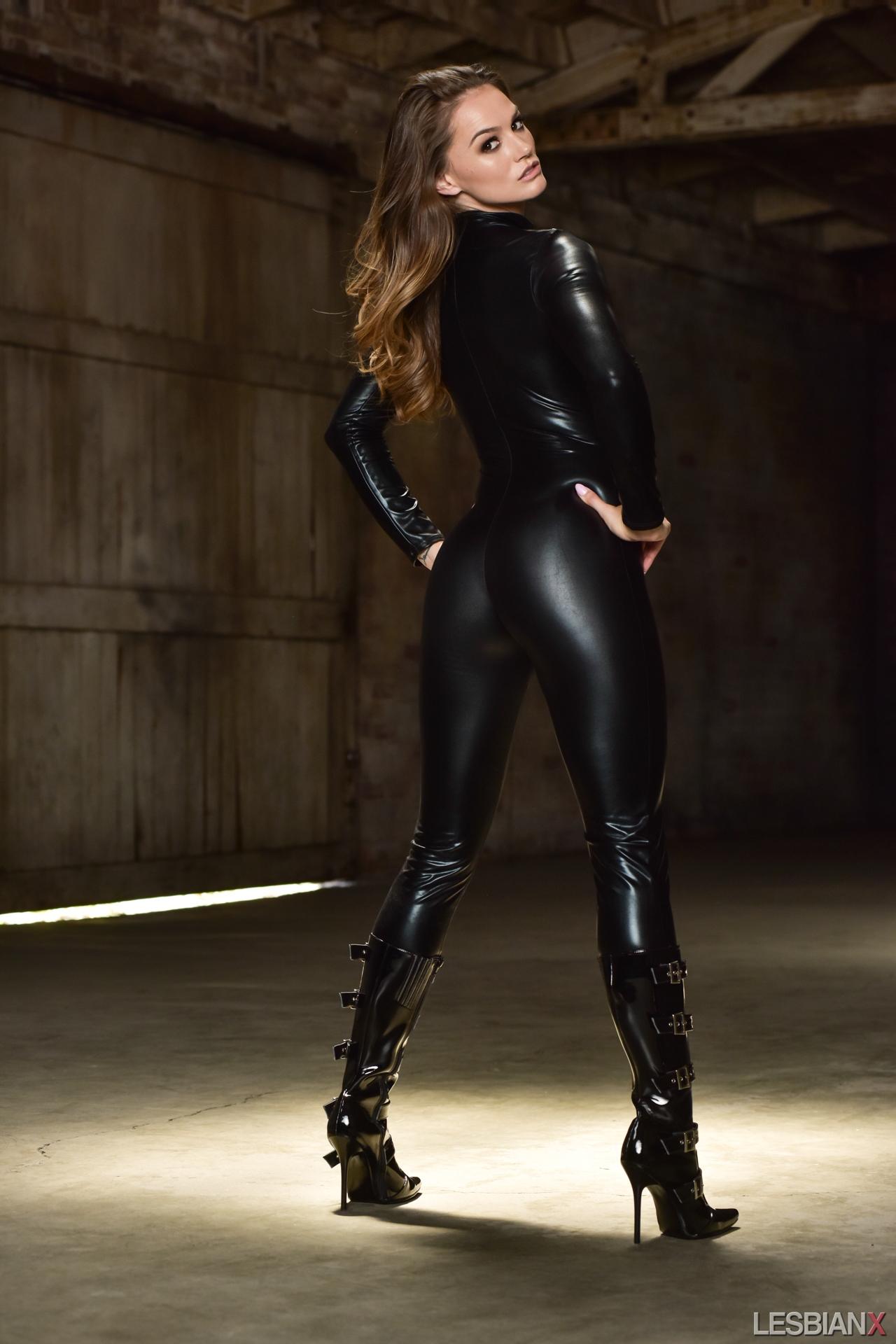 black latex leggings Tori