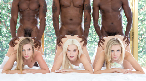 BLACKED Interracial ORGIES with three blondes getting black dick! Zoey Monroe, Sydney Cole and Elsa Jean go Interracial!