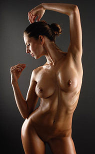 DOMAI's Chiara, Simple Nudes of Chiara, the athletic, tanned and oiled nude fitness babe, 20 pics gallery courtesy of DOMAI.com for Erotikom.com